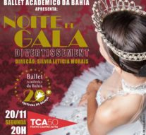 Noite de Gala – Divertissement, no Teatro Castro Alves, comemora 20 anos do Ballet Acadêmico da Bahia